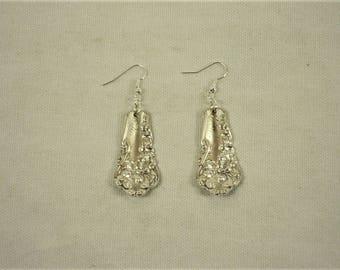 "Repurposed WM Rogers 1904 ""Berwick / Dana"" pattern Spoon Handle Earrings"