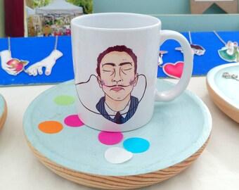 Salvador Dalí ceramic mug
