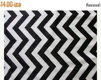 ON SALE Chevron Minky, Black and Ivory Minky, 1 Yard Fabric