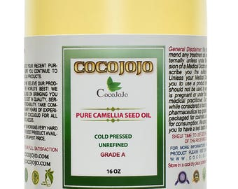 Pure Camellia Seed Oil 100% Unrefined, Extra Virgin, Cold Pressed