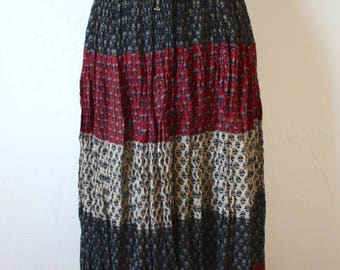 Clearance Sale Vintage Indian Cotton Midi Skirt
