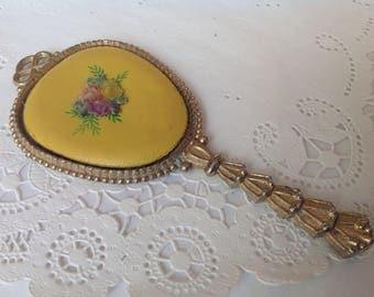 Vintage Hand Mirror, Vintage Purse Mirror, Ladies Art Nouveau Hand Mirror, Art Deco Hand Mirror
