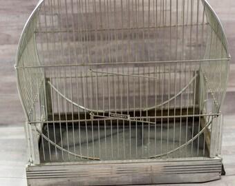 Antique Vintage Hendryx Art Deco Bird Cage