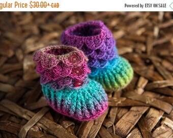 Happy Birthday sale baby crochet booties