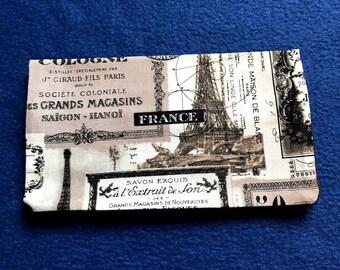 Paris Checkbook Cover