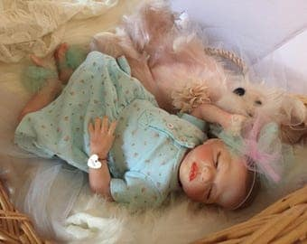 From The Preemie Rosebud Kit Reborn Baby Girl Riley Completed Doll with Magnetic Pacifier