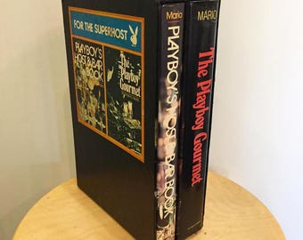 Playboy's Host & Bar Book + Gourmet Book Set for The Super Host 1972 By Thomas Mario