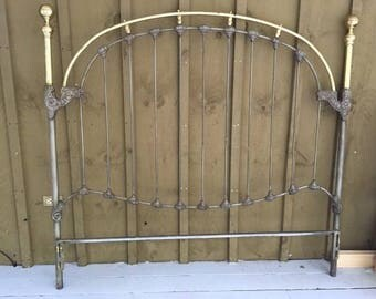 Vintage Brass and Painted Queen Bed Frame PICK UP ONLY