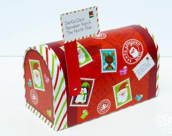 Christmas Mailbox - Letters to Santa Mailbox - North Pole Mailbox - Santa Mailbox - Mailbox - Letters to Santa
