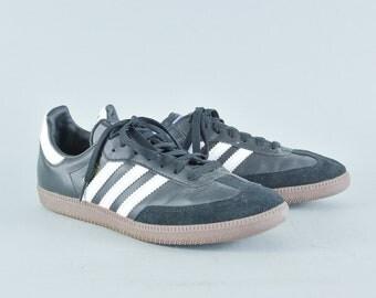 Retro 90's Style Adidas Black Samba Trainers Sneakers Men's UK 6.5 EU 40 US 7