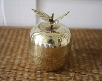 Brass apple container