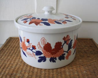 Chinoiserie casserole dish, blue and white casserole, Fitz and Floyd, oven to table casserole dish, Thanksgiving