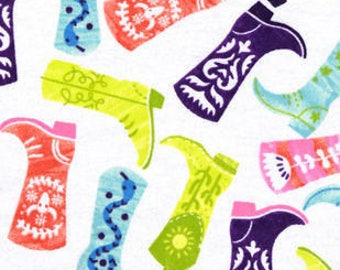 Snuggle Flannel Prints - Patterned Cowboy Boots - 28 inches