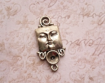 Buddha Pendant Silver for Rhinestone - 3 PIECES with 30% OFF