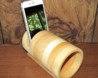 Tubular Acoustic iPhone Amplifier Speaker - Fits All Phones - iPhone, Samsung, LG, Nokia, Sony, Google