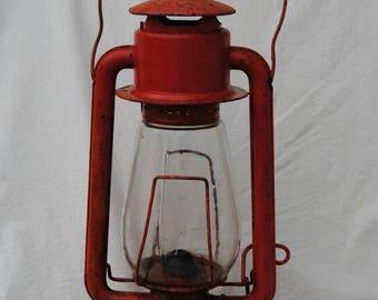 Red Kerosene Lantern Ritchard Strong Company Prisco No. 2 Rochester US