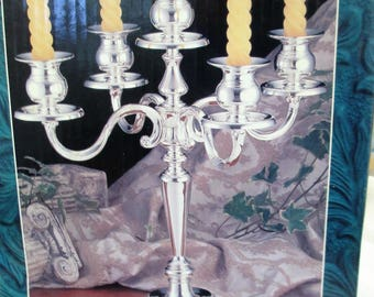 Vintage International Silver Company 5 arm candelabra in original box used