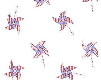 Michael Miller Fabric - Best of Sarah Jane - Pinwheels ( DC5142-SAIL-D)- 1 Yard