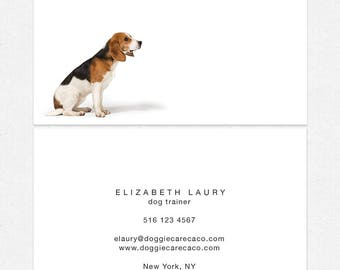 dog walker - dog trainer business cards - full color both sides - FREE UPS ground shipping