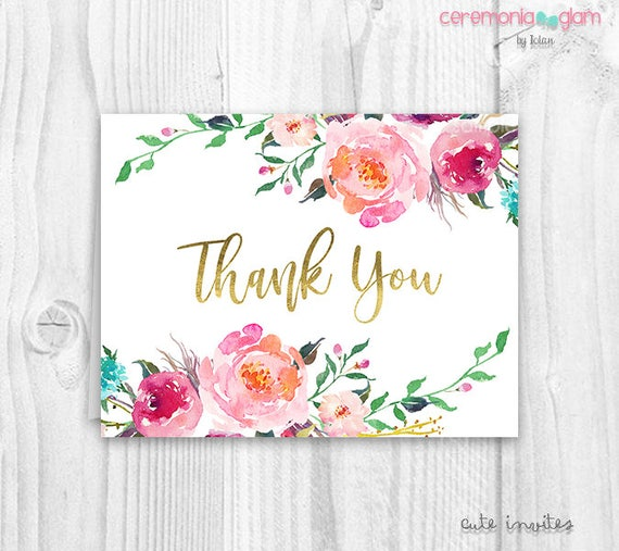 Floral thank you cards baby shower floral thank you card boho il570xn thecheapjerseys Gallery