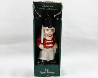 Goebel Toy Soldier Annual Ornament 1981 Fourth Edition