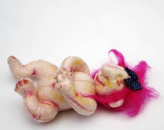 Zesa Troll Baby Cloth Art Doll