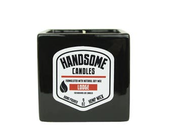 Sam's Natural - LODGE Handsome Candle - Soy Wax - Gifts - Natural, Vegan + Cruelty-Free