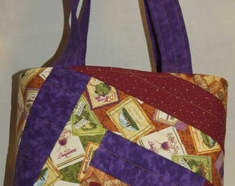 Wine Quilted Shoulder Bag