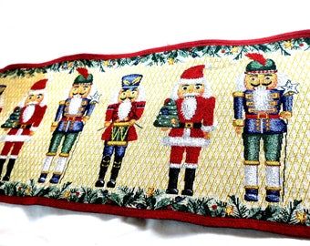 "Runner Christmas Runner 68 x 12"" Cotton Soldiers"