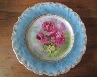 Beautiful Signed Handpainted Made In Germany Rose Plate