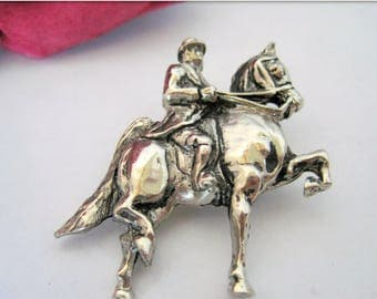 Equestrian Brooch - Male Rider - Show Stallion - Collectible Pin