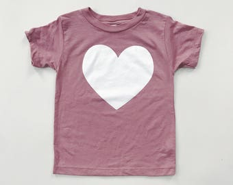 MAUVE HEART - Gray Tri-blend T-Shirt- Baby and Toddler