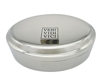 Veni Vidi Vici Pendant Oval Trinket Jewelry Box