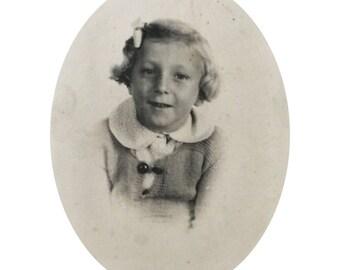 Original Vintage Photograph Little Girl Lulu
