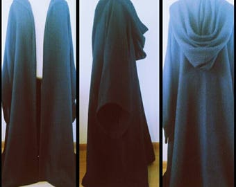 Made to order: Long Star Wars inspired Jedi Sith cloak/robe  costume cosplay larp reenactment