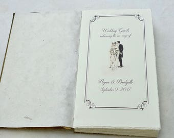 OPTION: Text Design for Wedding Guestbook, Add On for a Spellbinderie Order