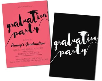 Modern Graduation Party Invitations