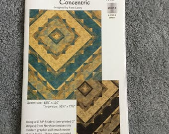 CONCENTRIC - STRIP - R Quilt Pattern Only