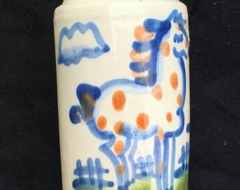 """M.A. Hadley """"Country Scene Blue"""" Horse Pepper Shaker in Excellent Condition"""