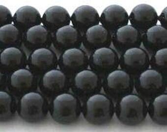 SWAROVSKI Large Hole Crystal Pearl Beads 5811 MYSTIC BLACK