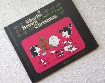 A Charlie Brown Christmas Book Peanuts Cartoon Charles Schulz 1965 First Printing Snoopy Linus Lucy Christmas Tree Hard Cover Color Pictures