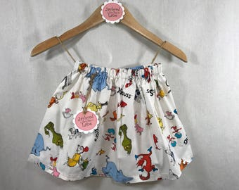 Dr. Seuss Character Skirt - Girls - Ready to Ship