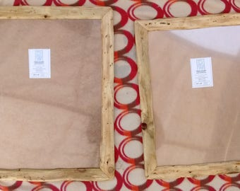 """Rustic/driftwood style frames in locally sourced,recycled pine in clear beeswax finish.To fit 20""""x16"""" & 14""""x18"""""""