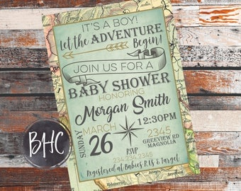 Baby Shower invitation. Adventure theme Baby Shower. Adventure Baby Inviation. Baby Shower invite. Baby Shower. Adventure Theme.