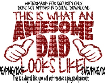 Awesome Dad SVG/DXF/PNG Single Layer Digital Cut File