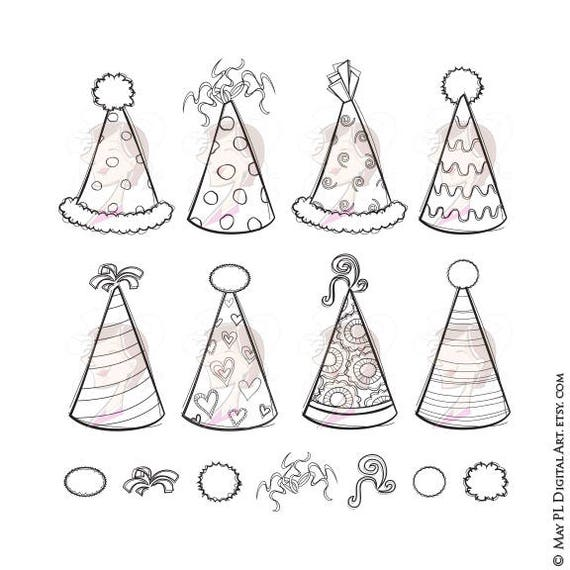 Hat Clipart Great For DIY Birthday