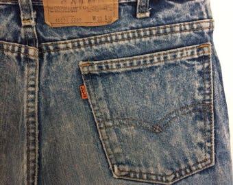 Vintage Levi's acid wash jeans 33x30 orange tab 40550-0209