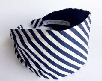 headbands for women nautical summer navy white stripe fabric headband adult wide hairband hair accessories no slip stay on