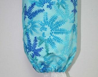 Aqua Ferns Plastic Bag Holder, Grocery Bag Holder, Bag Holder, Bag Dispenser