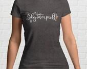I'm A SLYTHERPUFF Ladies T-Shirt   Mixed Hogwarts Houses   Slytherin and Hufflepuff